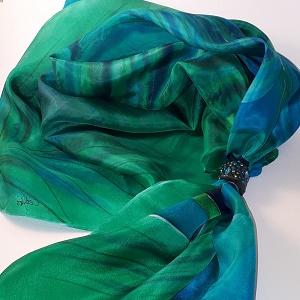 kézzel festett selyem kendők