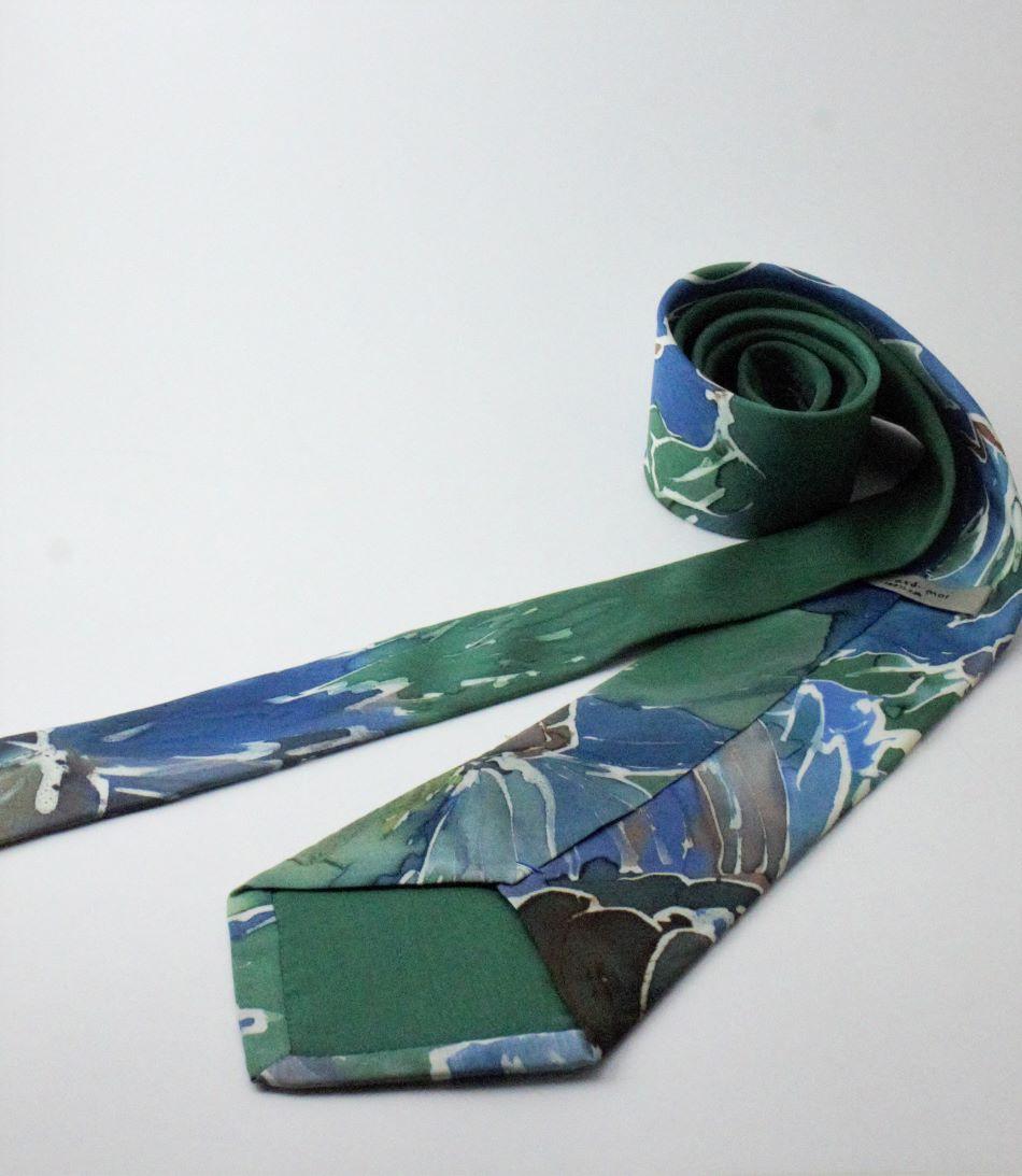 100% hernyóselyem nyakkendő kézel festett