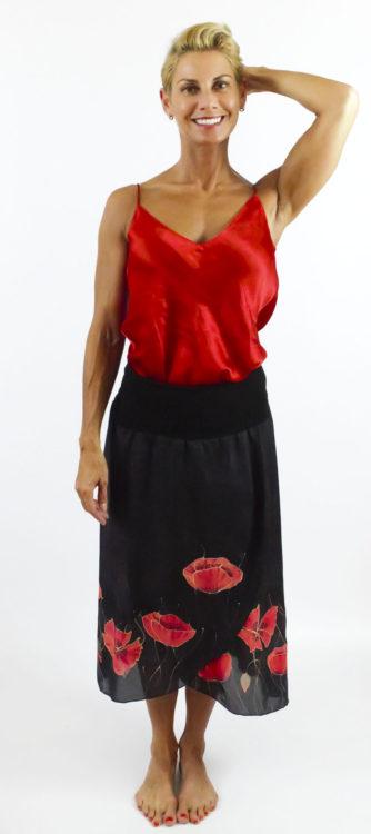 100% silk skirt