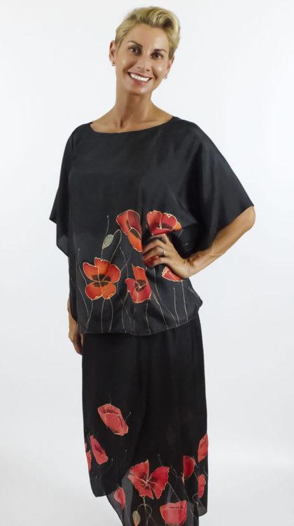 poppyes silk dress