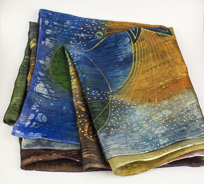 selyem szatén sál papirusz