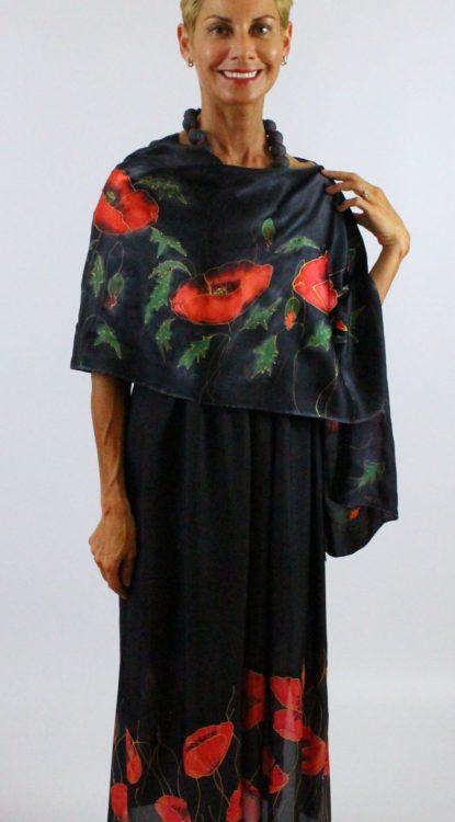 selyem ruha fekete