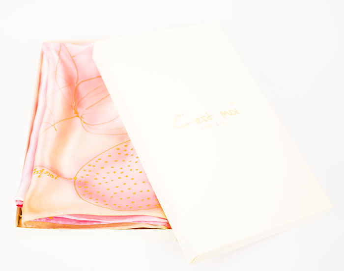 selyem sál szatén rózsaszín 03