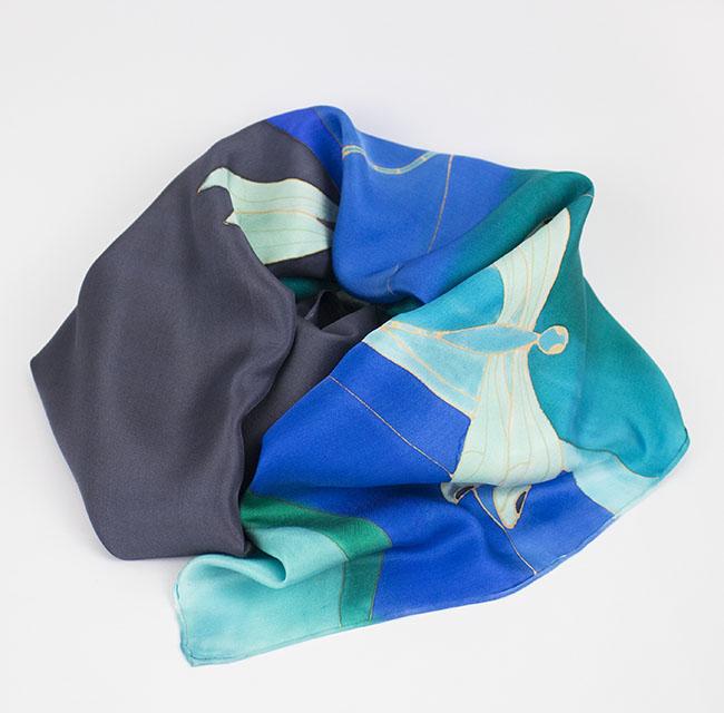 selyem sál szitakötők 01
