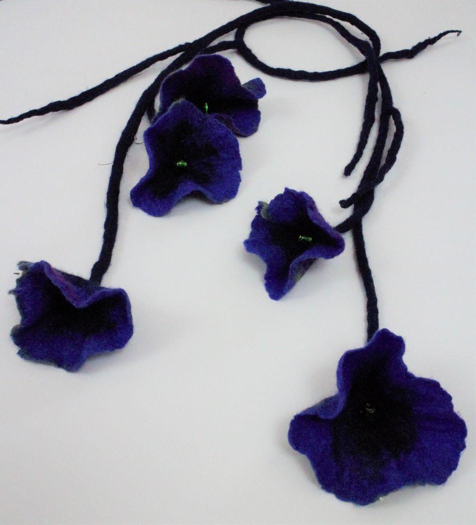 nemez virág lánc