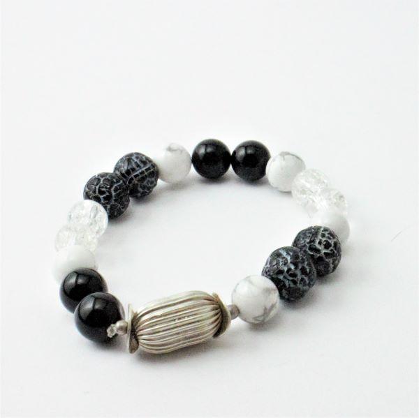 ásvány karkötő onix hegyi kristály
