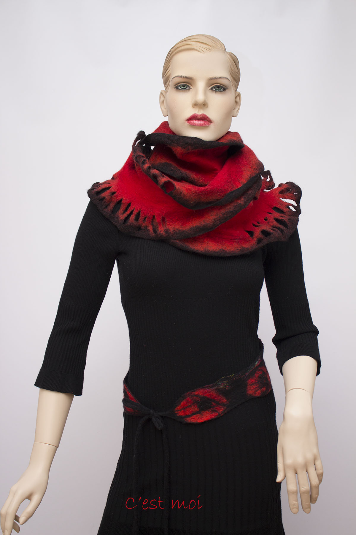 nemezelt hullámos piros fekete 03