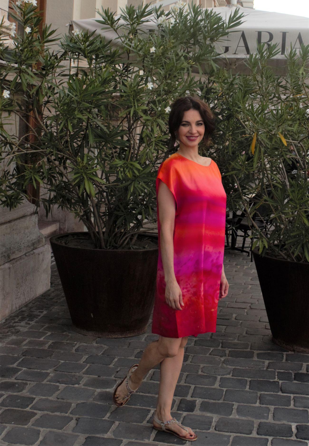 valódi selyem ruha pink