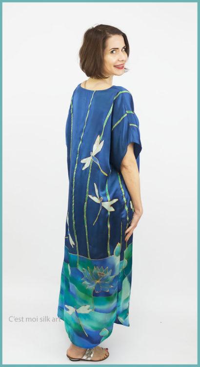 selyem szatén ruha szitakötőkkel 03