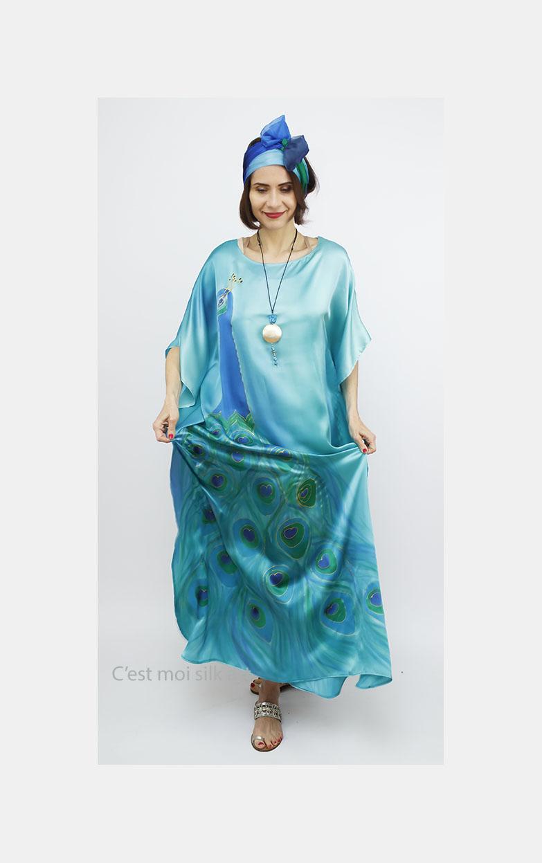 selyem szatén ruha szitakötőkkel 13