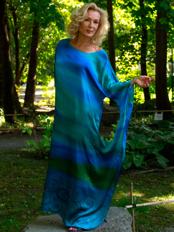 turquoise-casual-silk-dress-by-CestMoi