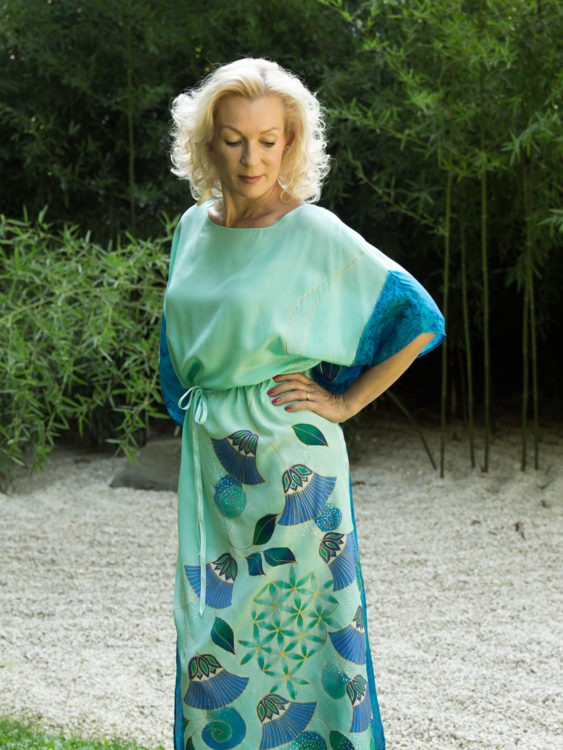 turquoise-silk-dress-with-papyrus-and-flower-of-life-05