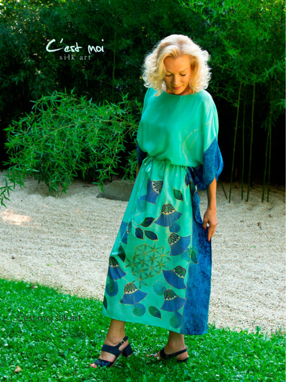 turquoise-silk-dress-with-papyrus-and-flower-of-life-07